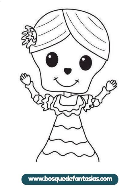 imagenes infantiles para colorear del dia de muertos cuaderno para colorear del d 237 a de muertos especial para ni 241 os