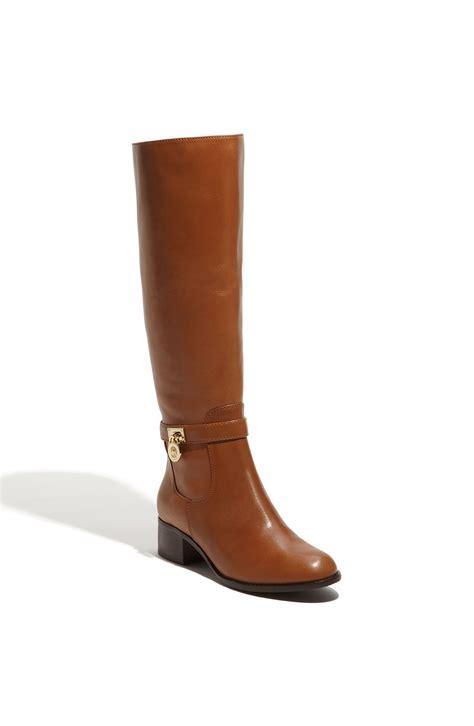 michael kors brown boots michael michael kors hamilton boot in brown