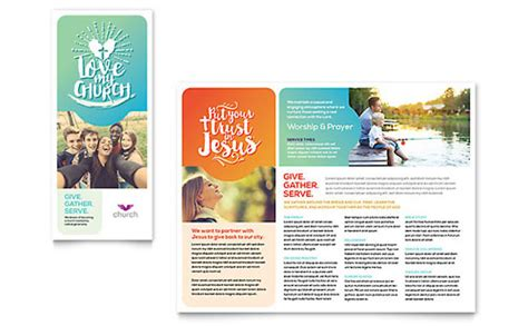Church Marketing Brochures Flyers Newsletters Postcards Free Religious Brochure Templates