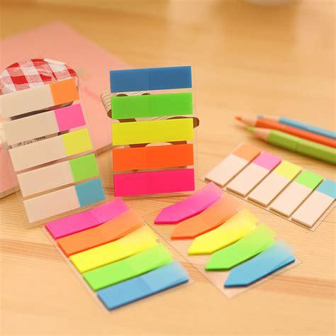 Sticky Memo Page Marker 5 color 100 pages plastic sticker post it bookmark