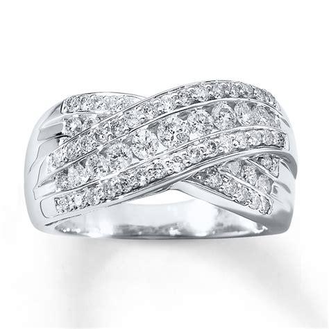anniversary ring 1 ct tw cut 14k white