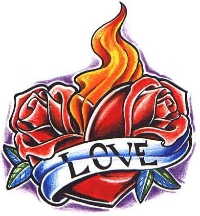 rose heart tattoo designs pictures of flaming tattoos