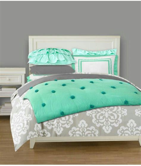 young girls beds love these colors mint and grey bedding for a teen girl s