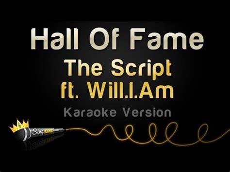 download mp3 gratis the script rain download the script ft will i am hall of fame karaoke