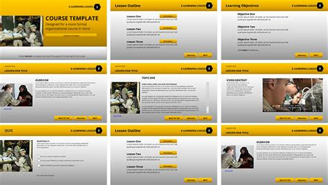 e learning course design template elearning templates gallery