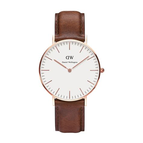Ck Ck099 Brown Rosegold the classic st mawes by daniel wellington