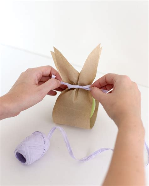 Paper Bag Bunny Craft - paper bunny fruit bags a subtle revelry