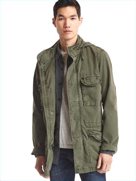 Parka Gap Green Original gap mens hooded fatigue jacket army green 004