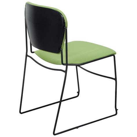 Perry Chair by Ki Perry Used Reupholstered Stack Chair Light Green