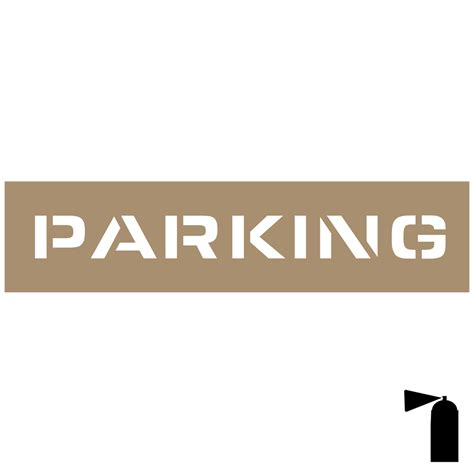 Parking Stencil Nhe 19101 Parking Control Parking Template