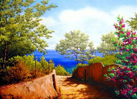 imagenes bonitas de paisajes con flores im 225 genes arte pinturas paisajes de flores hermosas