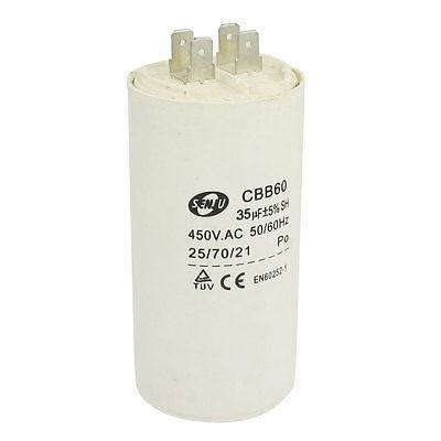 non capacitor start motor washing machine cbb60 35uf ac 450v non polar motor start capacitor white in capacitors from