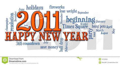 Happy New Year Word 2011 Happy New Year Word Cloud Stock Photo Image 16787850