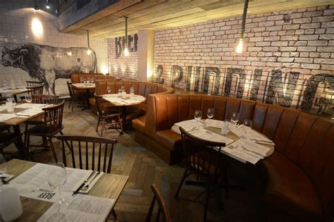 dv designs created true rustic feel beef pudding restaurant