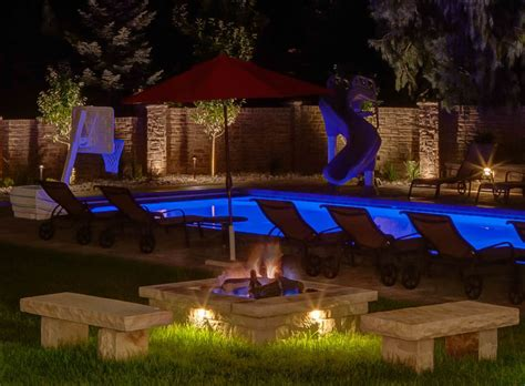 outdoor lighting salt lake city water feature pond and pool lighting ideas and pictures