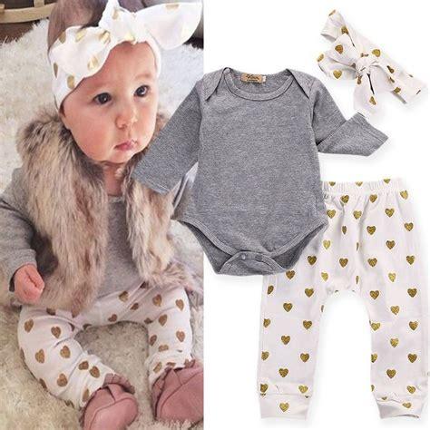 Set Hoddie Headband Handband 3pcs set infant baby t shirt romper headband clothes ebay