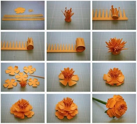 Flower Paper Craft Ideas - craft paper flowers step by step find craft ideas