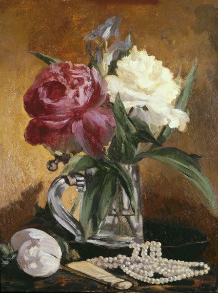 nature morte con fiori natura morta con fiori ventaglio e perle arte