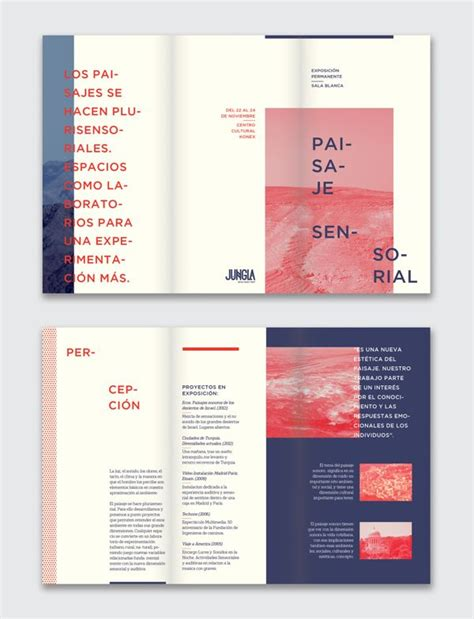 layout design on behance paisaje sensorial exhibition by ursula villalba via