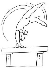 gymnastic coloring pages free printable gymnastics coloring pages for