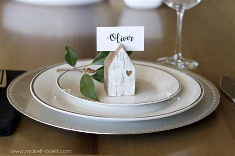 diy place card holders a bit of whimsy the culinary chase diy house place card holders make it and love it