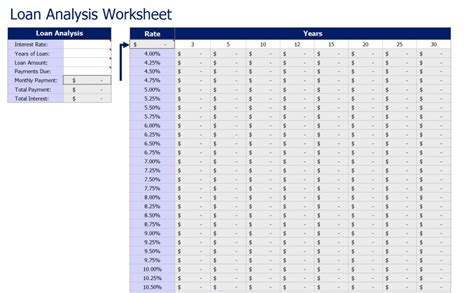 loan spreadsheet template loan spreadsheet template 28 images loan payment