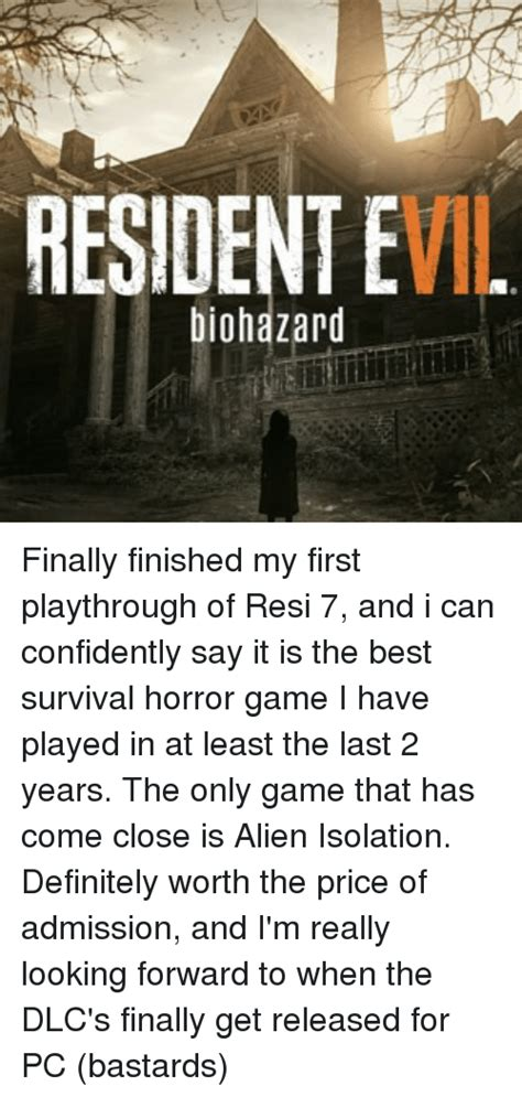 my finally finished st 25 best memes about survival horror survival