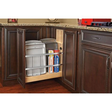 foil kitchen cabinets rev a shelf 5 in pull out wood foil wrap tray divider cabinet organizer with ball bearing soft