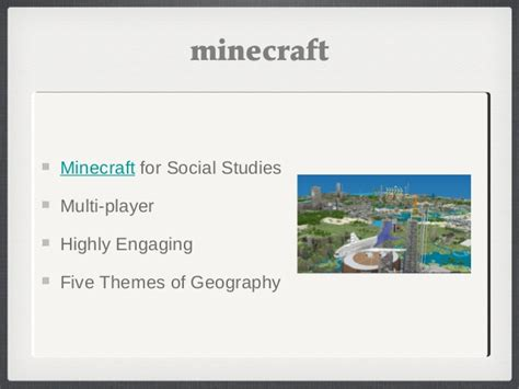 five themes of geography minecraft waetag collaborative classroom technology