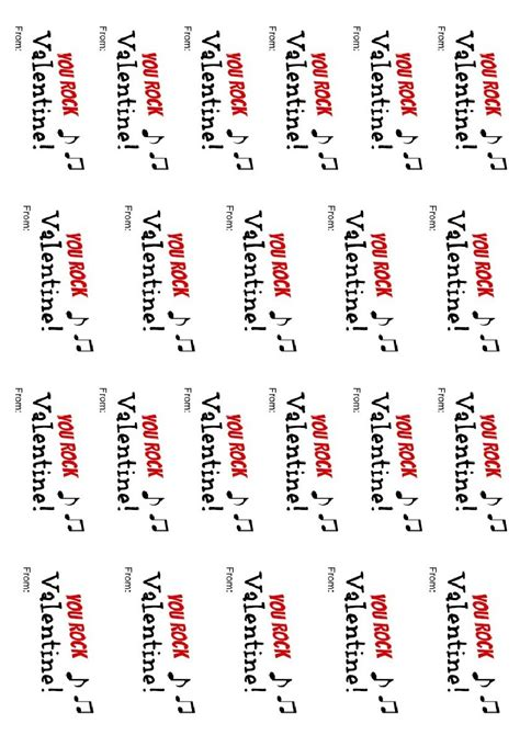 you rock valentines free printable you rock printable about a