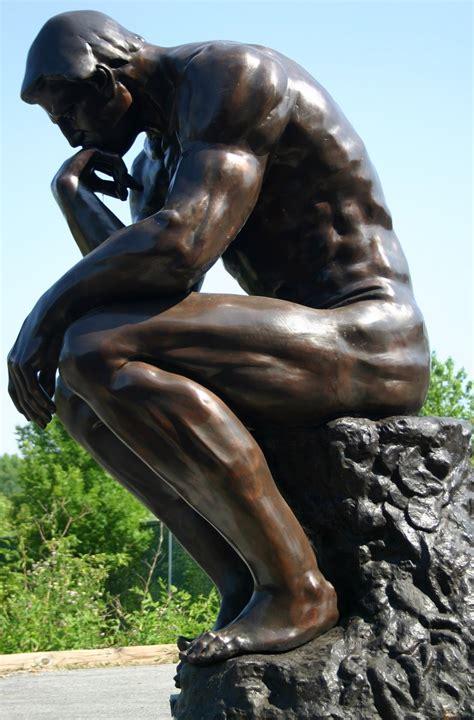 giant thinker bronze monument sculpture tk