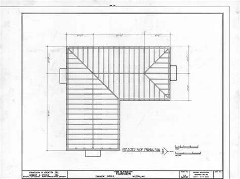 floor framing plan roof framing plan asa thomas house milton north