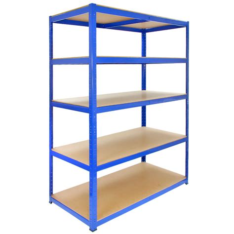 1 bay garage storage shed shelving unit 5 tier 1200mm