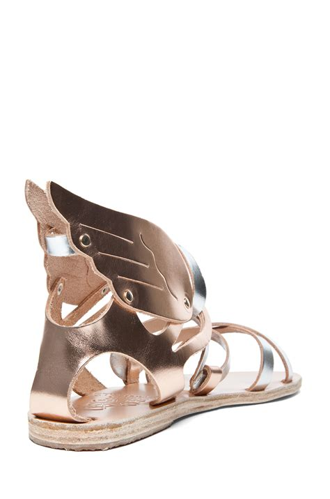 ancient sandal ancient sandals nephele sandal in metallic mix lyst