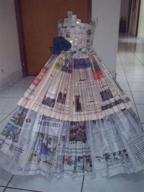 vestido manualidades de papel periodico 17 mejores ideas sobre vestido de peri 243 dico en pinterest