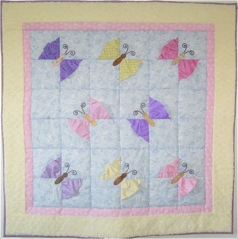 Patchwork Patterns For Baby Quilts - butterfly kisses baby quilt pattern
