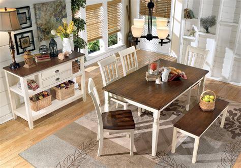 Whitesburg Dining Room Set W Bench Signature Design By Whitesburg Large Dining Room