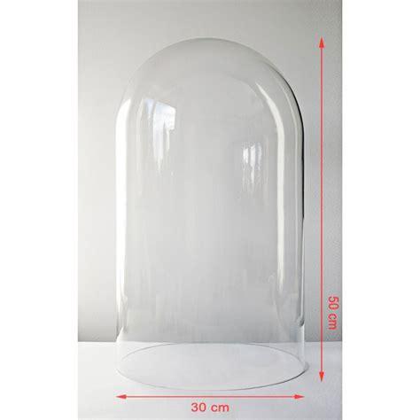Plastic Chair Mat Large Clear Circular Glass Dome Display Cloche Bell Jar 50 Cm