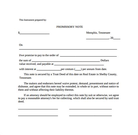promissory note template canada promissory note 22 free documents in pdf word
