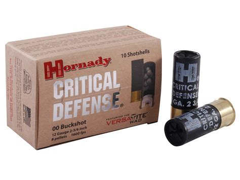 hornady critical defense ammo 12 ga 2 3 4 00 buckshot box
