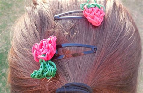 make loom band hair pins how to make loom hair accessories hairstylegalleries com