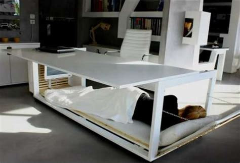 Home Office Desk Bed Work And Sleep In One Place With A Combined Desk And Bed