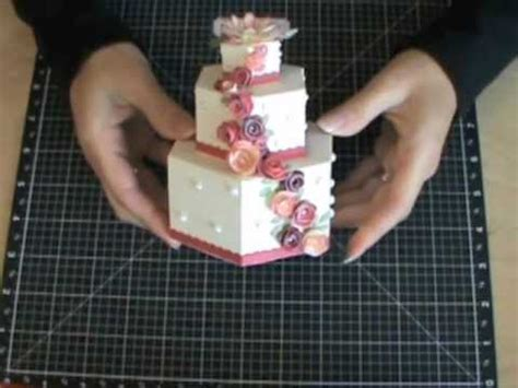 How To Make A Cake With Paper - 3 d cardstock cakes using the philosophy cricut