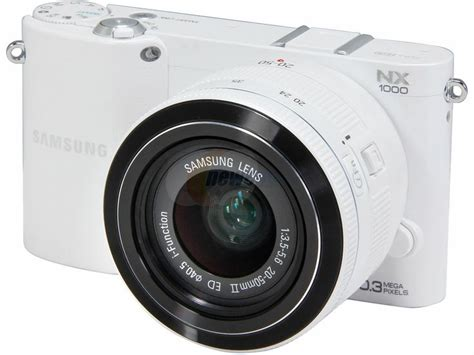 Kamera Mirrorless Samsung Nx1000 samsung nx1000 20 3 megapixel mirrorless with lens kit 20 mm 50 mm white