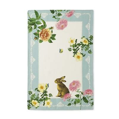 garden bunny towels set of 2 williams sonoma