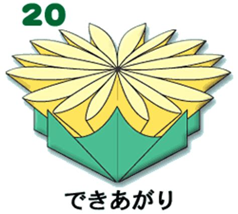 Origami Chrysanthemum - kogata origami chrysanthemum