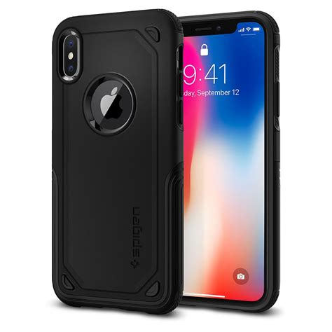 Best Deal Defense Protector Armor For Iphone X Black iphone x hybrid armor spigen inc