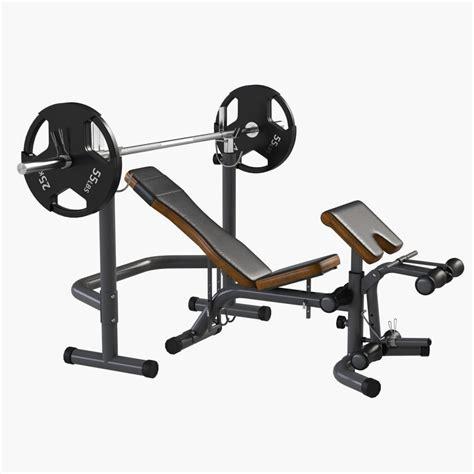 modells bench press 3d model gym equipment bench press
