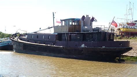 Ss Eat A Lot 100ft steam ship in kent turned into a houseboat for 163 150k daily mail
