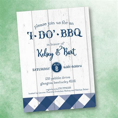 Cookout Wedding Reception Invitations
